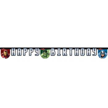 Banderole Happy Birthday Avengers