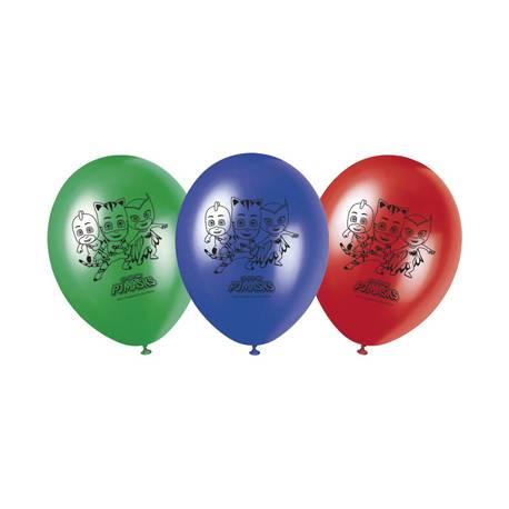 8 Ballons Pyjamasques en latex pour la deco anniversaire de votre enfant