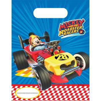 6 Sachets de fête Mickey roadster racers