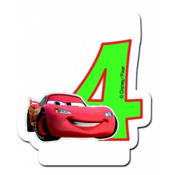 Bougie chiffre 4 Cars Flash McQueen