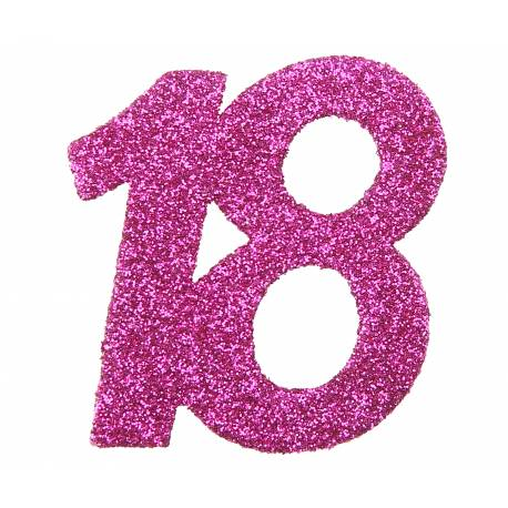6 Confettis géant pailleté fuchsia 18 ans Dimensions :6 x 5 cm Parfait pour la deco de votre fête ou anniversaire.