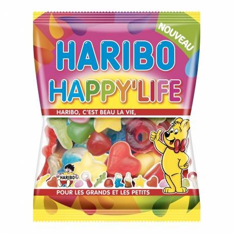 Sachet de 120 gr de bonbons Haribo. Assortiment de leurs meilleurs bonbons !
