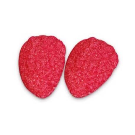 Paquet de 1 kg de bonbons guimauve à la fraise en forme de fraise plate
