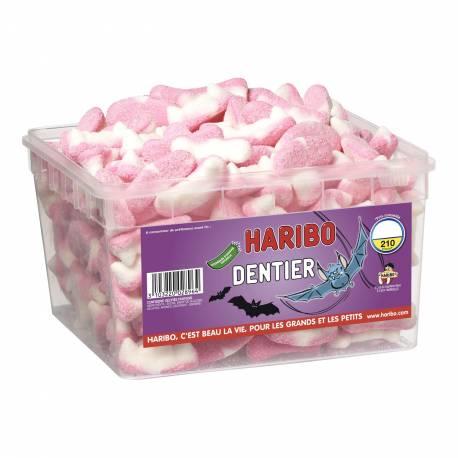 Boite de 210 pcs environ de bonbons halloween Haribo dentier de vampire