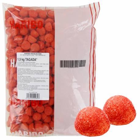 Sachet de bonbons Haribo fraise Tagada rouge1.5 Kg Format idéal pour remplir les bonbonnières de vos candy bar