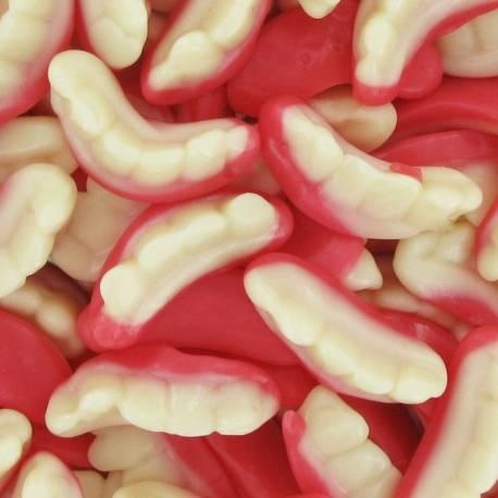 Bonbons gélifiés aux fruits en forme de dentier, idéal pour Halloween Marque Fini Poids 1Kg