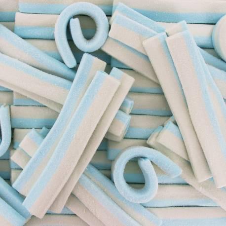 Sachet de 500gr de guimauve bleu et blanche Idéal pour les gâteaux de bonbons Poids : 500gr soit environ 35-40 pièces Dimensions : 15 cm...