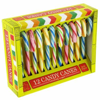 12 Candy Canes multicolore