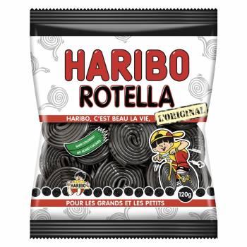 Rouleaux de réglisse Rotella Haribo 120gr