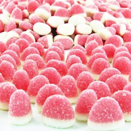 Bonbons fini Mini bisou rose aux fruits. Bonbons gélifiées enrobé de sucreFormat idéal pour remplir les bonbonnières de vos Candy...