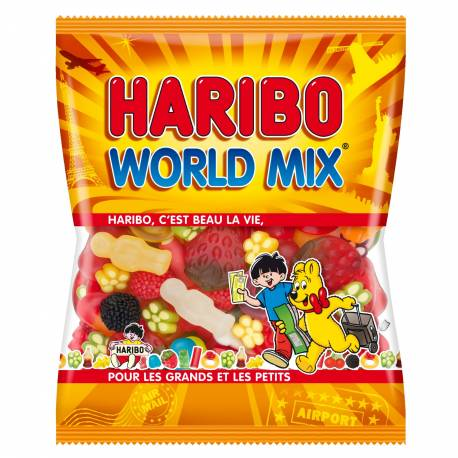 Sachet de 120 gr de bonbons world mix assortis