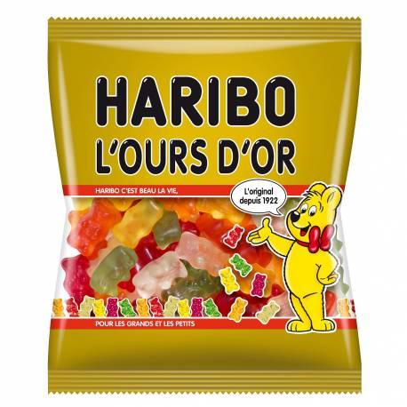 Sachet de 120 gr de bonbons haribo en forme d'ourson