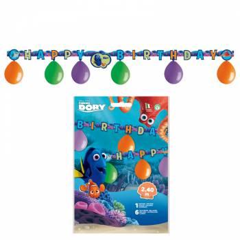 Kit 6 ballons + guirlande anniversaire Dory