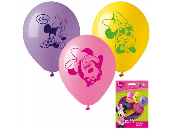Ballons anniversaire en latex Minnie Mouse