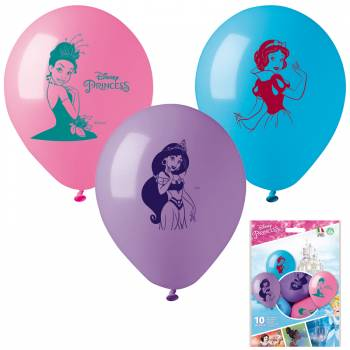 10 Ballons Princesses Disney