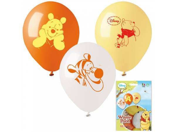 Ballons anniversaire en latex Winnie l'ourson