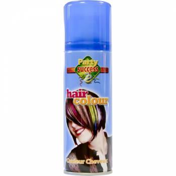 Laque cheveux fluo bleu
