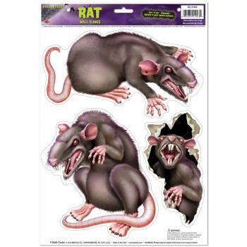 3 Autocollants Rats