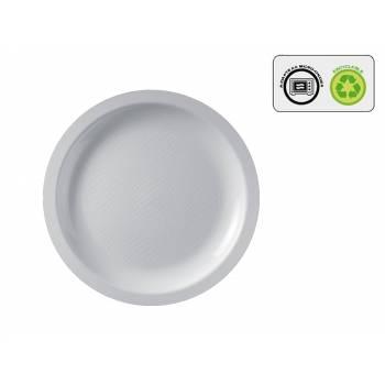 10 Assiettes ronde dessert blanche