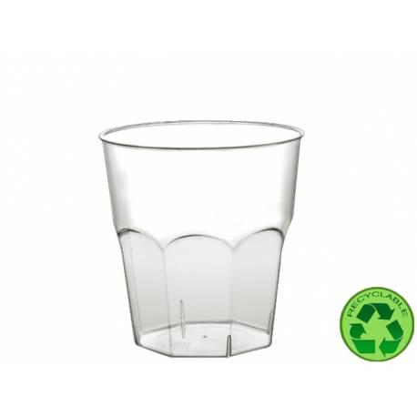 Paquet de 12 gobelets en plastique transparent 20 cl
