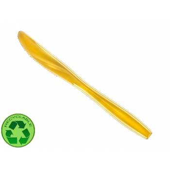 10 Couteaux en plastique or