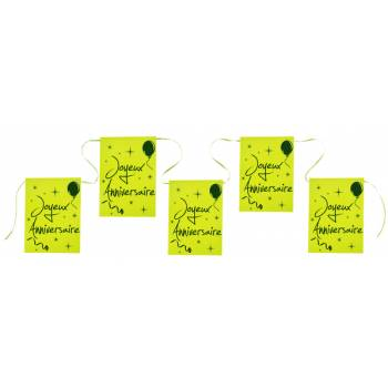 Banderole Joyeux anniversaire verte