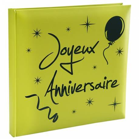 Livre d'Orthème Joyeux anniversaire vert Dimensions : 24 cm x 24 cm Parfait pour la deco de votre fête ou anniversaire.