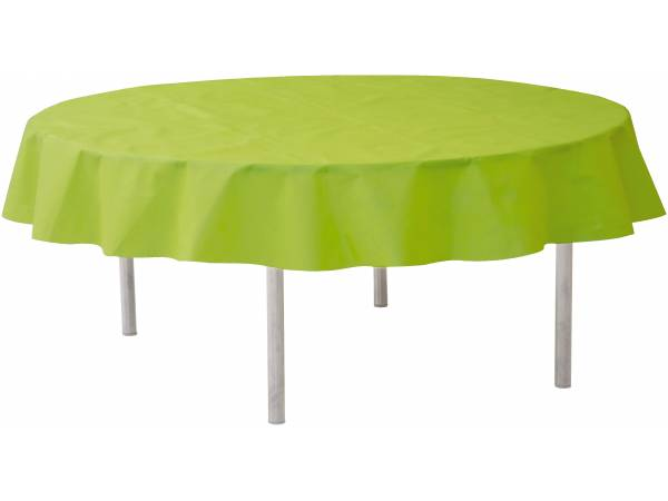 nappe ronde intiss e verte. Black Bedroom Furniture Sets. Home Design Ideas