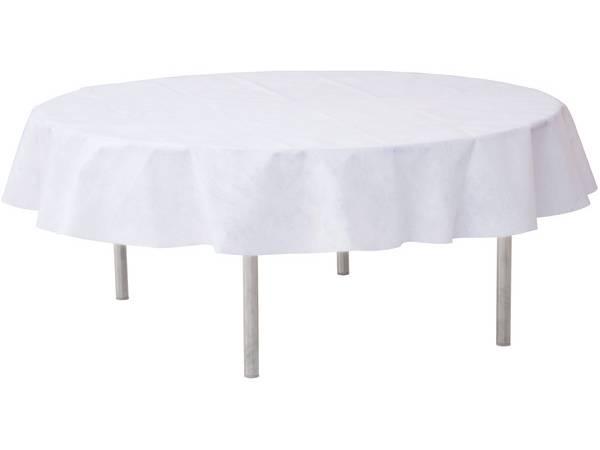 nappe ronde intiss e blanche thema deco. Black Bedroom Furniture Sets. Home Design Ideas