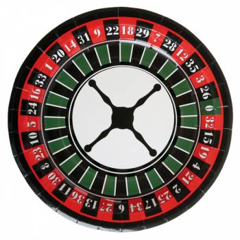 10 assiettes Roulette casino