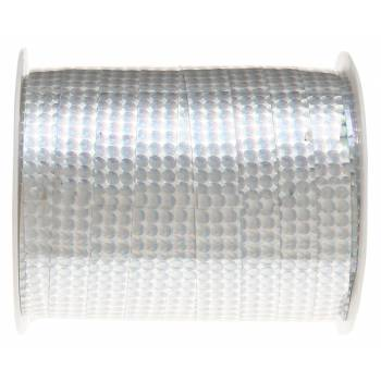 Bolduc hologramme métallisé argent