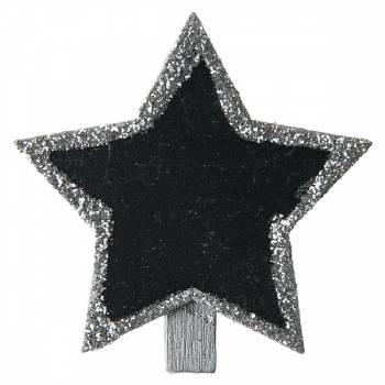 4 Mini pinces ardoise étoiles Argent