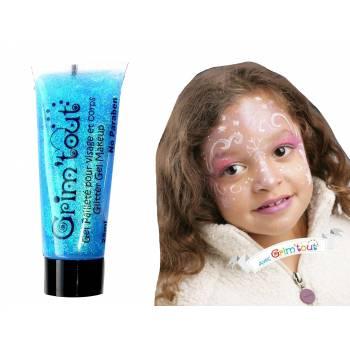 Maquillage gel pailleté Turquoise