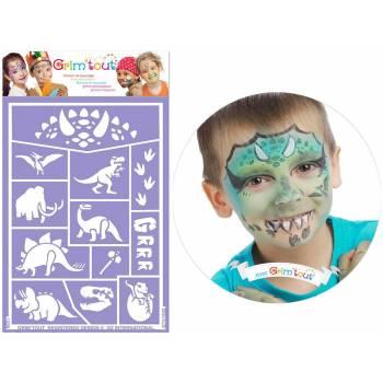 Pochoir de maquillage Dinosaure