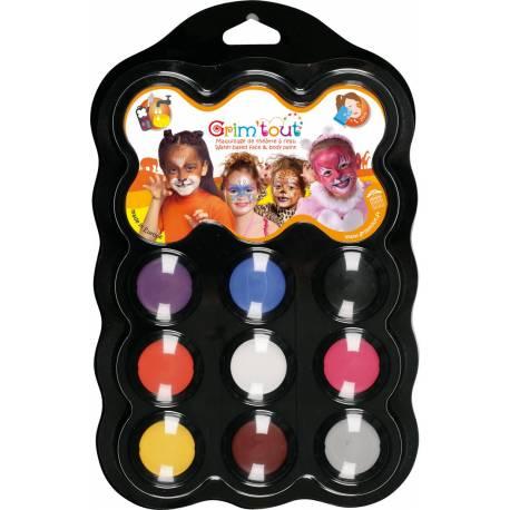Palette de 9 couleurs avec des assortiments différents pour pouvoir réaliser tous les maquillages souhaités !Et pour être équipé : une...