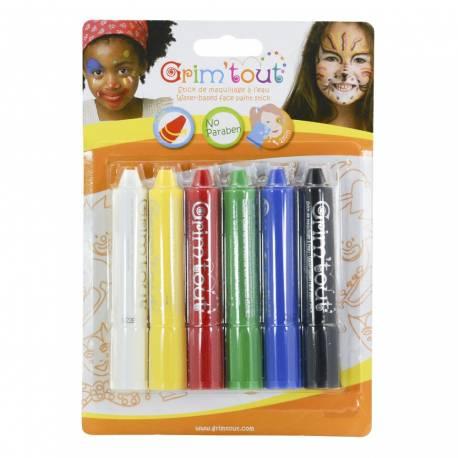 Parfaits pour s'amuser, faciles à utiliser par les enfants, les Grim'sticks permettent de se maquiller en toute simplicité grâce à leur...