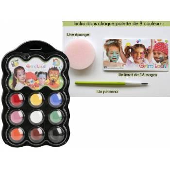 Palette maquillage 9 couleurs Carnaval