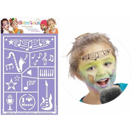 GRIM'TOUT simplifie la vie des mamans, des enseignants et animateursavec des pochoirs de maquillage adhésifs, lavables et réutilisables...