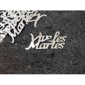 Confettis de table Vives les mariés argent