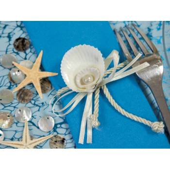 2 Ronds de serviettes Coquillage