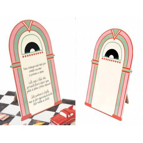 Ardoise menu en forme deJuke Box Dimensions : 12 cm x 18 cm