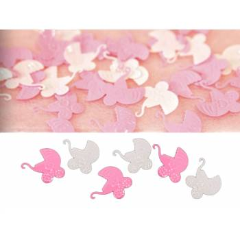 Confettis de table landau rose