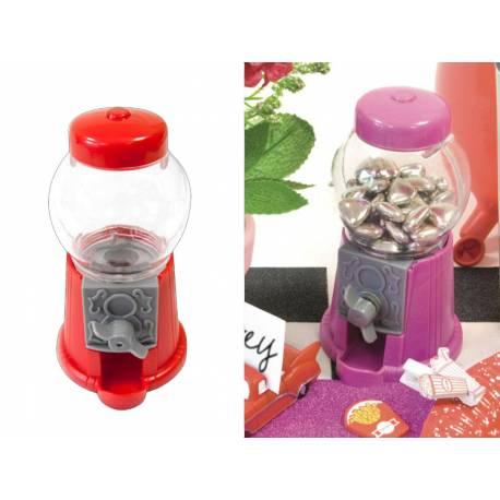 Ce mini distributeur à Bubble Gum fera un cadeau nostalgique, très tendance et original pour vos invités Dimensions: 11.5 cm x 2.4 cm