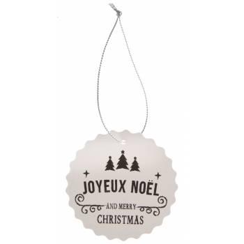 4 Nominettes/marques place Joyeux Noël blanc