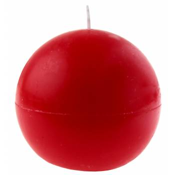 Bougie ronde rouge