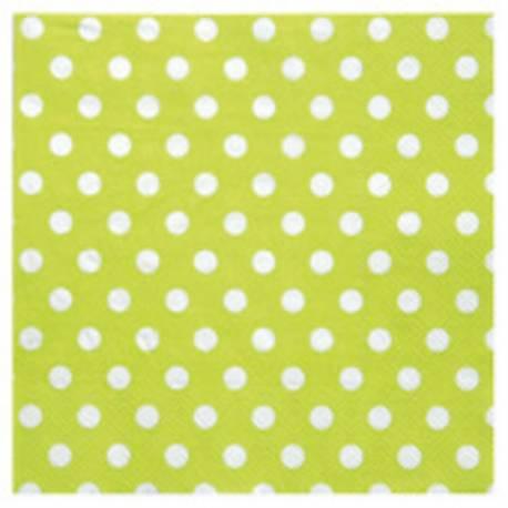 Serviette en papier 17 cm x17 cm fermée 33 cm x 33 cm ouverte Paquet de 20 serviettes