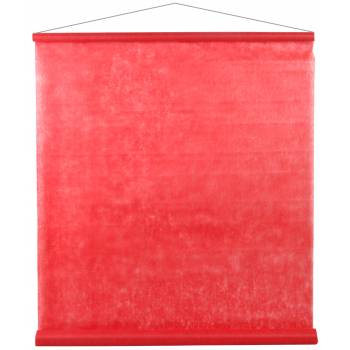 Tenture de salle intissé rouge