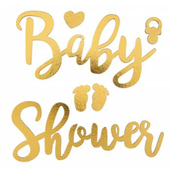 Baby shower autocollant or