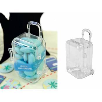 2 Boîtes plexi valise trolley