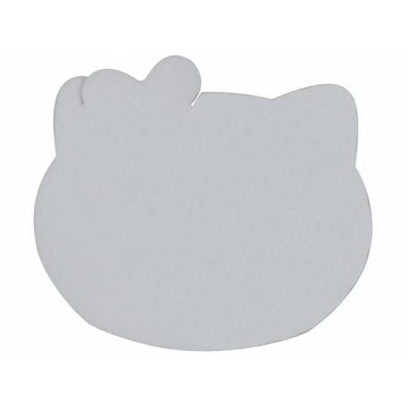 Support en polystyrène en forme de tête de Kiity Dimensions: 33 cm x 29 cm x 3 cm